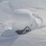 Haus mit Schnee