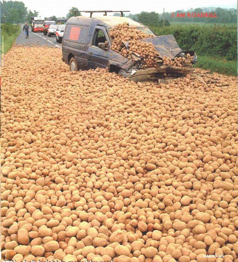 Unfall mit Kartoffeln