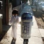 R2D2 und Prinzessin Leia