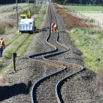 Verbogene Schienen