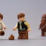 Chewbacca hinterlässt einen Haufen