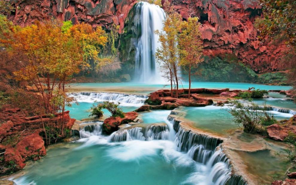 Havasu Falls and Cascades - Havasu Canyon, Arizona