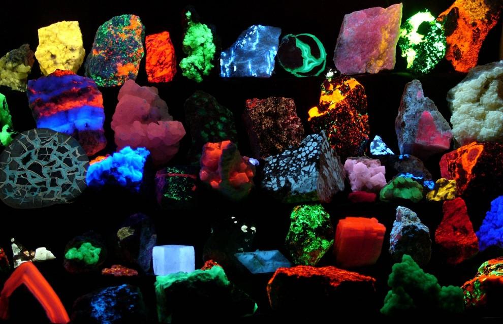 Fluoreszierende Minerale