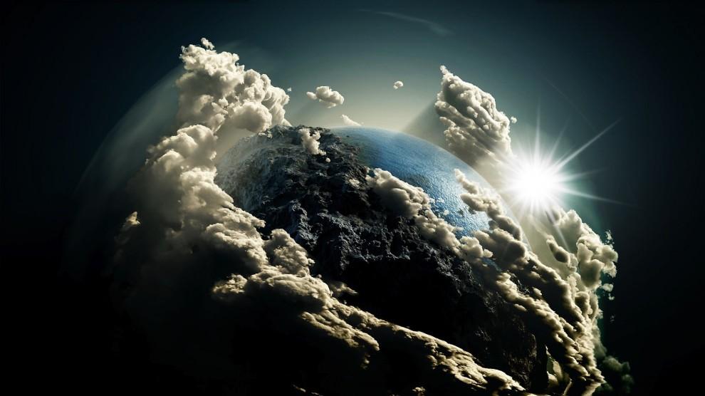 Erde Wolken Wasser