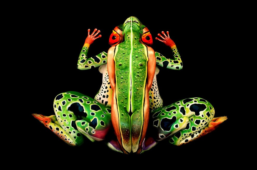 Frosch aus Menschen