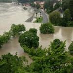 Hochwasser an der Donau (Grein, Österreich)